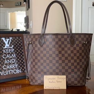 Authentic Louis Vuitton Neverfull Ebene Damier MM
